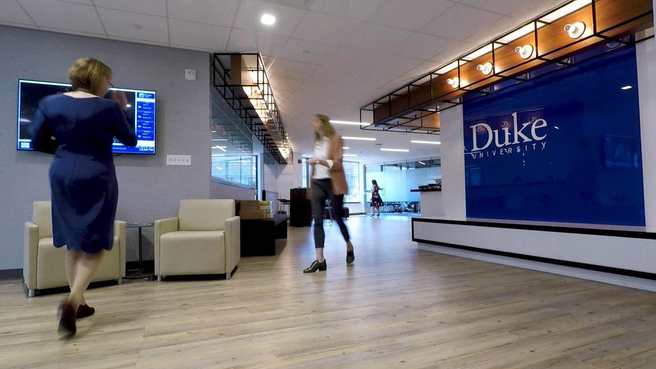 Duke in DC office entrance